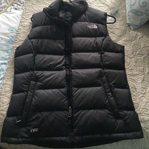 North face 700 women's black vest