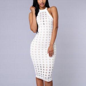 Fashion Nova Dresses & Skirts - White dress NWT 1 HOUR SALE
