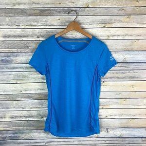 Icebreaker Tops - Icebreaker Merino Wool Blue Short Sleeve Tech Tee
