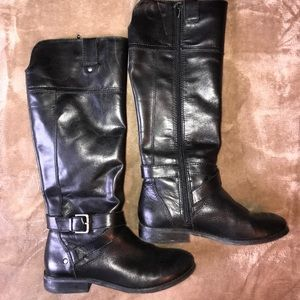 Shoes - Marc Fisher Black Leather Riding Boots