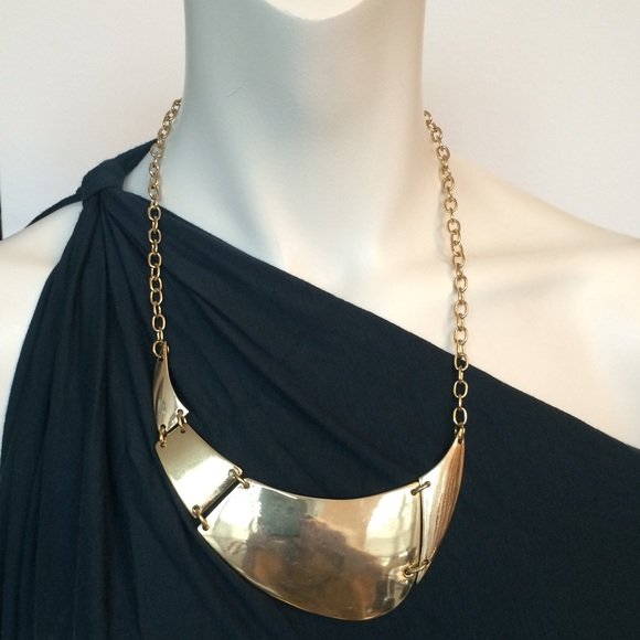 047c8f1970183d Anthropologie Jewelry | Bib Collar New Gold Organic Necklace | Poshmark