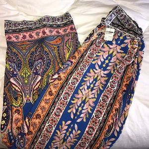 Pants - NEVER WORN WITH TAGS Multi colored flowy fun pants