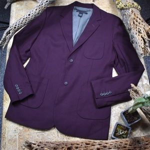 Marc Jacobs men's maroon sport coat.