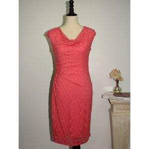 Ronni Nicole Dresses & Skirts - Ronni Nicole Lace Coral Dress