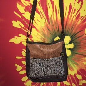 The Sak Handbags - The Sak brown leather cross-body messenger bag