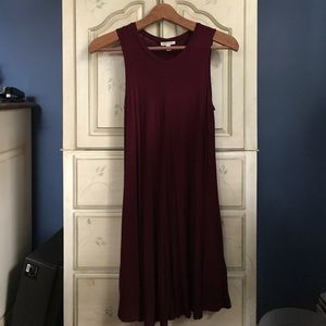 Urban Outfitters Shift Dress Maroon