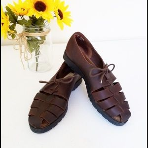 Bass Shoes - Brown Leather Sandals