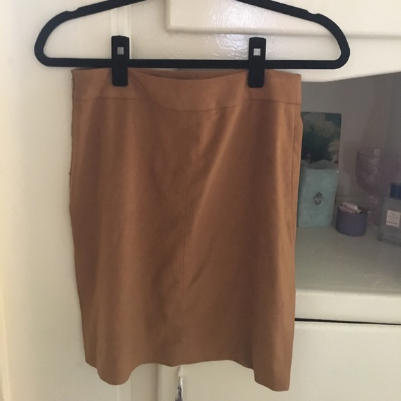 Theory Skirts - Theory Tan Suede Skirt Slits - Very 90s