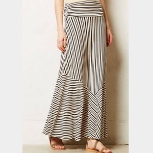 Anthropologie Dresses & Skirts - Maeve Ardennes Black & Cream Striped Maxi Skirt