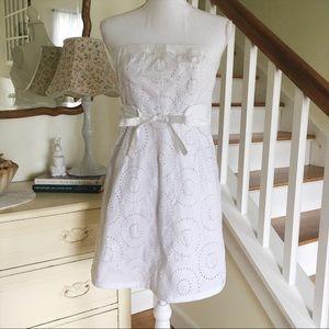 Sale! Venus White Eyelet Strapless Dress