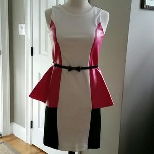 Zoe Ltd Other - Zoe Ltd. NWT Pink, Ivory & Black Peplum Dress