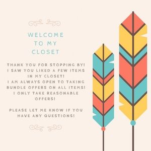 Welcome to my closet!!!
