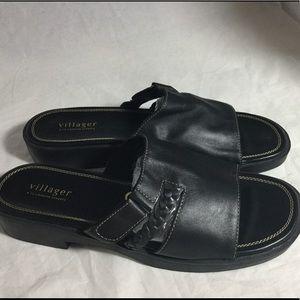 1910a1df58b4af Liz Claiborne Shoes - Villager Leather Sandals