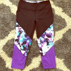 RBX Pants - RBX galaxy cropped work out leggings