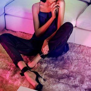 Maison de Papillon Pants - NWT Silk MAISON de PAPILLON Tuxedo Lounge Pants