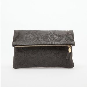 new with tags clare vivier fold over clutch.