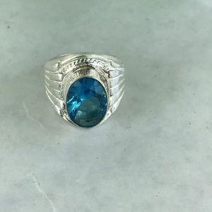 Jewelry - 🌺Final Price🌺 Blue Topaz Ring 925