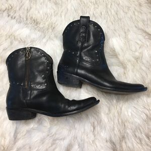 Lucky Brand Shoes - Lucky Brand Leather Cowboy Boots