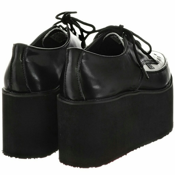 11 t u k shoes new tuk shoes b w stacked platform