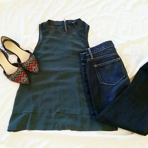 Madewell Incline silk tank