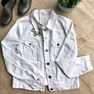 J. Crew Jackets & Blazers - JCREW Nolita White Distressed Denim Jacket