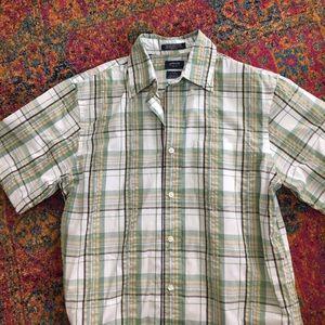 Arrow Other - Mens Arrow Plaid Button Down short sleeve shirt