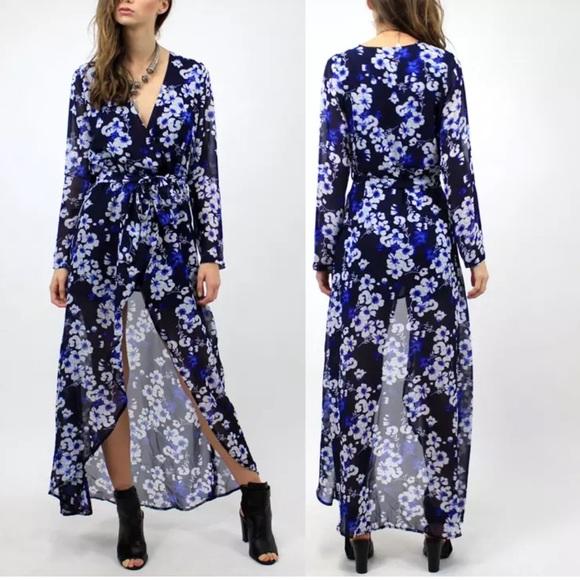 Southern Girl Fashion Dresses | Wrap Dress Swingy Long Draped Kimono ...