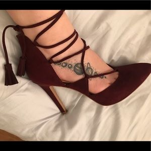 Arturo Chiang Shoes - Designer Lace Up Heels