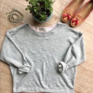 Scotch & Soda Sweaters - Scotch & Soda Cropped Drop Shoulder Sweater