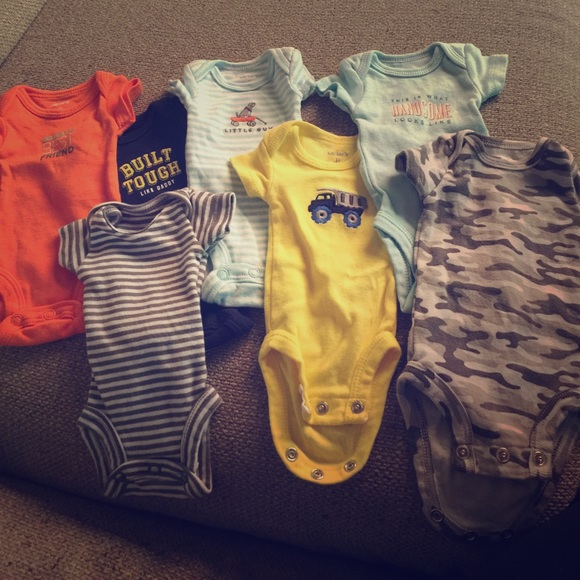 a4249d96f Carter's One Pieces | 7 Lot Of Preemie Carters Boy Onesies | Poshmark