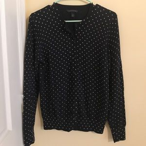 Navy Tommy Hilfiger polka dot cardigan MEDIUM