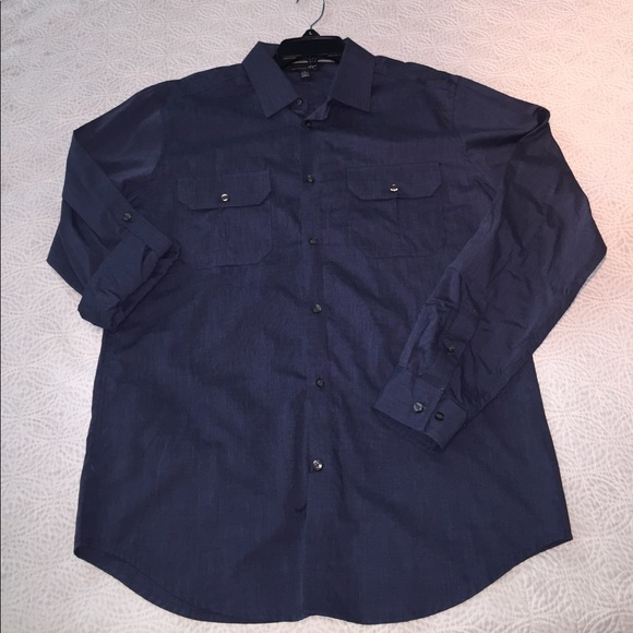 Jf men 39 s jf j ferrari button down casual dress for J ferrar military shirt
