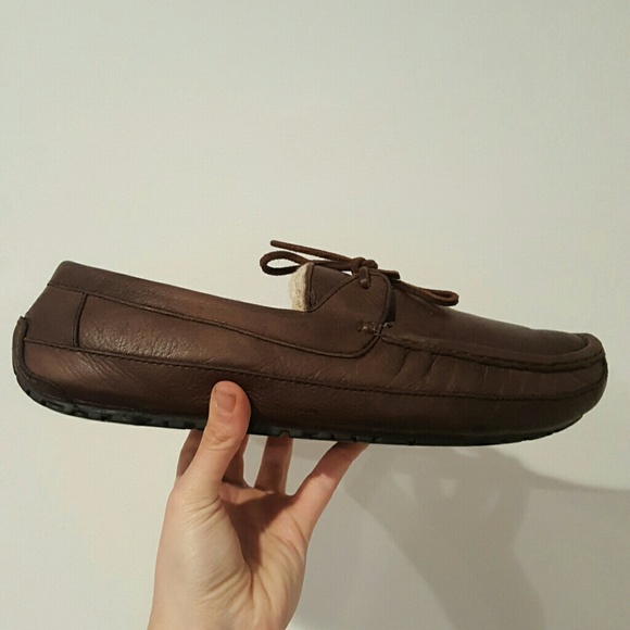 650c181806d UGG BYRON MENS SLIPPERS BROWN LEATHER 12