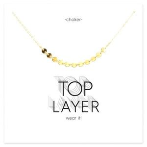 Jewelry - Gold Top Layer Choker dainty necklace
