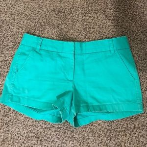 J. Crew Chino Shorts 3 inch Size 8 Green