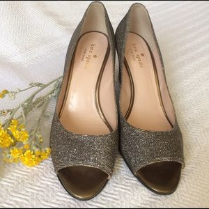 Absolutely grand Kate Spade sparkle wedges