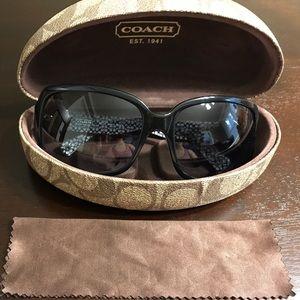 Coach Accessories - Authentic Coach black sunglasses with case