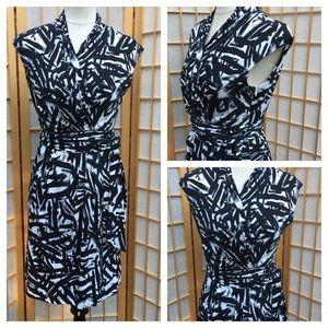 Eliza J Black & White Print Dress SZ 8