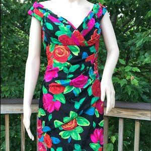 A. J. Bari Dresses & Skirts - HOST PICK🌸🌸🌸❣️❣️❣️ Floral Silk Dress  SZ 14
