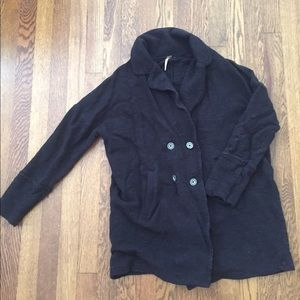 Free People black button up cardigan