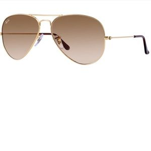 Gold Ray-Ban aviators