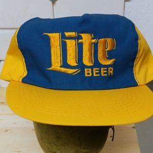 Miller Lite Other - Vintage Trucker Hat Lite Beer SnapBack