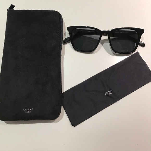 ae40e952098 NEW Celine Black Square Sunglasses
