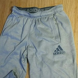 ADIDAS GRAY TRACK PANTS SIZE: SMALL