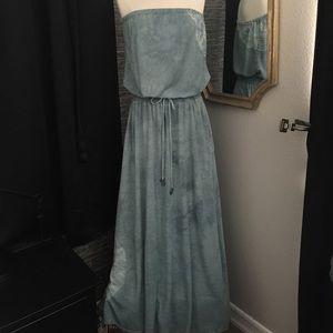 Gypsy 05 Dresses & Skirts - GYPSY 05 Emma Tie Dye Strapless Aqua Maxi Dress M