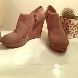 Vince camuto bootie wedges