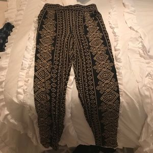 forever 21 palazzo pants aztec print