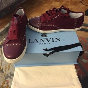 Brand new Lanvin low top sneaker with studs
