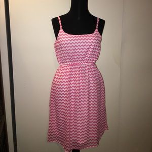 5th & Love Dresses & Skirts - NWT Chevron lined summer dress pink & white M