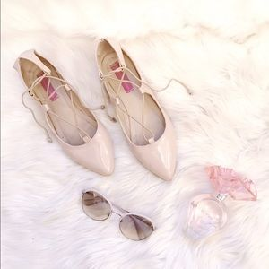 Nude Patent Leather Flats🎀